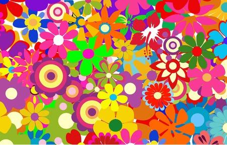 Ilustración de vector de coloridas flores de primavera Ilustración de vector