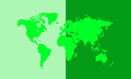 World map vector illustration Stockfoto - 121667440