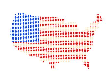 USA map vector illustration Stock Illustratie