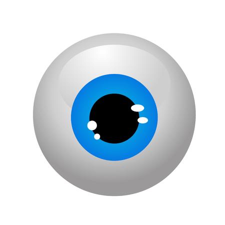 eyeballs isolated vector Stock Illustratie