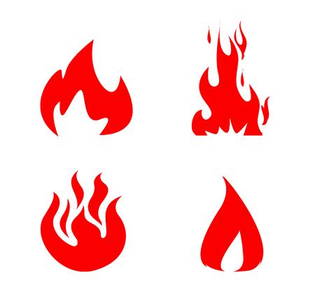 Fire Icons set vector Stockfoto - 121667456