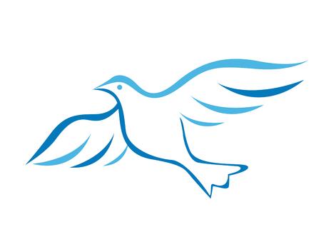 Illustrazione vettoriale di colomba volante Vettoriali