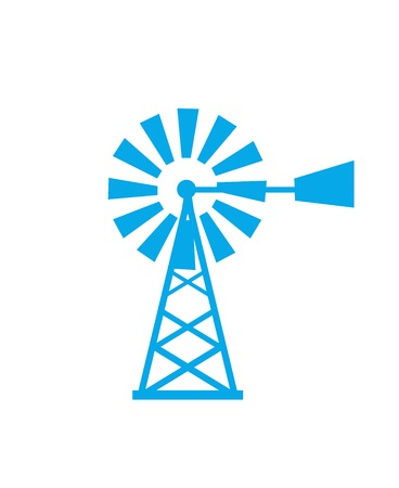 windmill, wind power vector illustration Illustration