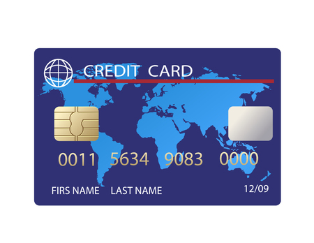vector realistic credit card Stock Illustratie