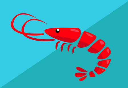 Shrimp vector illustration Stockfoto - 121667464