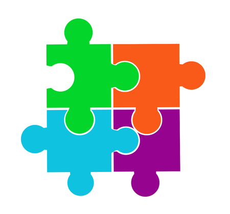 Vector illustration of puzzle pieces Stockfoto - 121667468