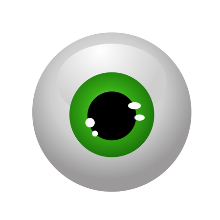 eyeballs isolated vector Illustration