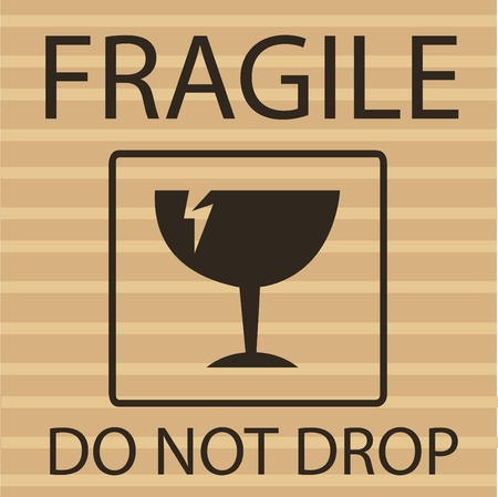 Fragile or Breakable Material packaging symbol Stockfoto - 121667478