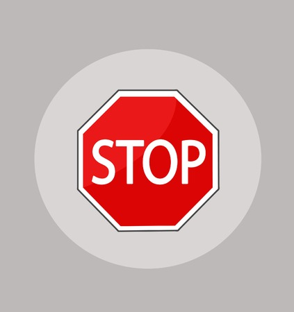 Vector illustration of Stop sign Stockfoto - 121667480