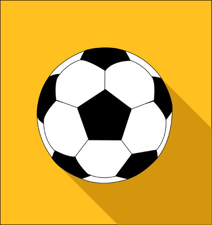 vector soccer ball flat style Stock Illustratie
