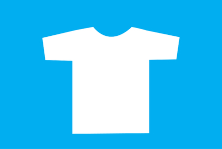 Blank t-shirt template. Front Stockfoto - 121667483