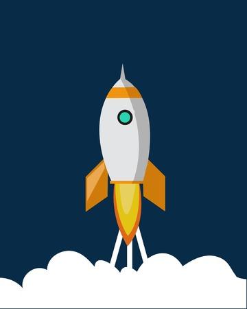 Space ship vector icon Stock Illustratie