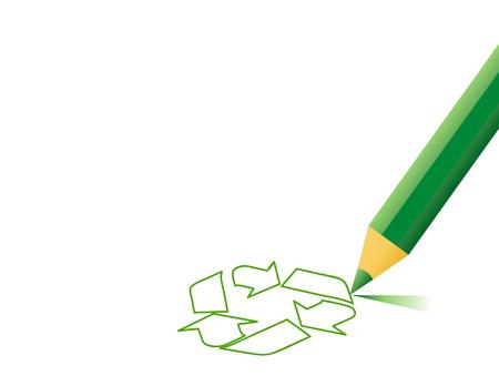 Vector recycle sign Stock Illustratie