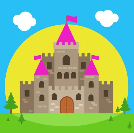 Castle vector illustration Stock Illustratie