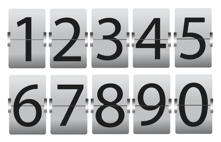 set of numbers isolated on white Stockfoto - 121667494