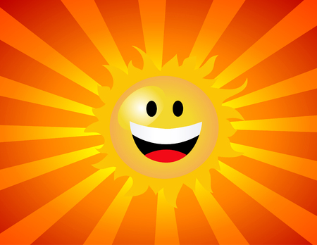 vector illustration of the sun Stockfoto - 121667495