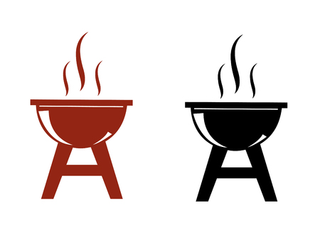 Vector barbecue icon set Stock Illustratie