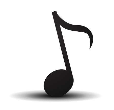 Musical note. Vector illustration.
