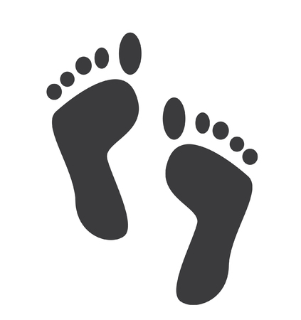 Footprint vector icon isolated on white background
