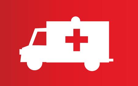 ambulance icon vector illustration Stock Illustratie