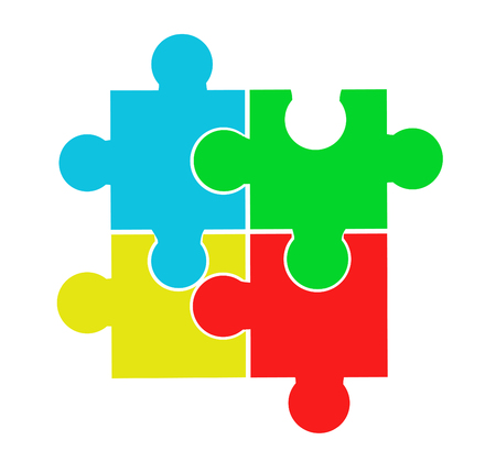 Vector illustration of puzzle pieces Stockfoto - 121667497