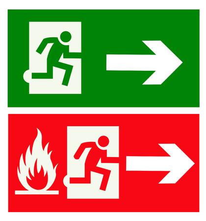 exit emergency sign Stock Illustratie