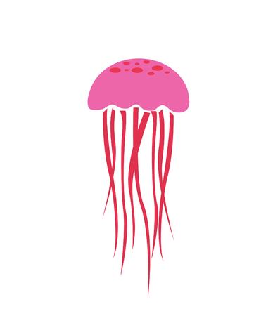 jellyfish icon, vector illustration Stock Illustratie