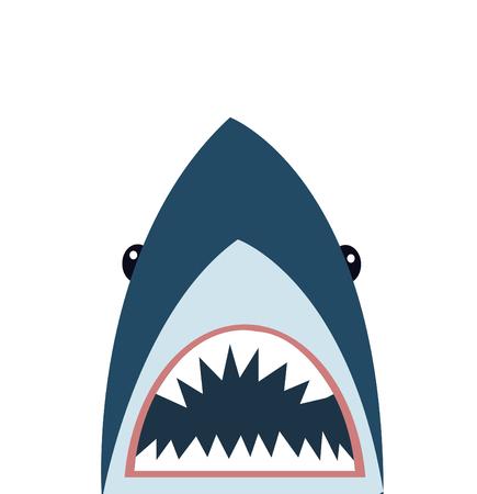 Shark icon vector illustration Stock Illustratie