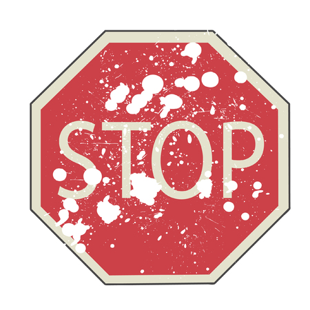 Vector illustration of Stop sign  Illustration