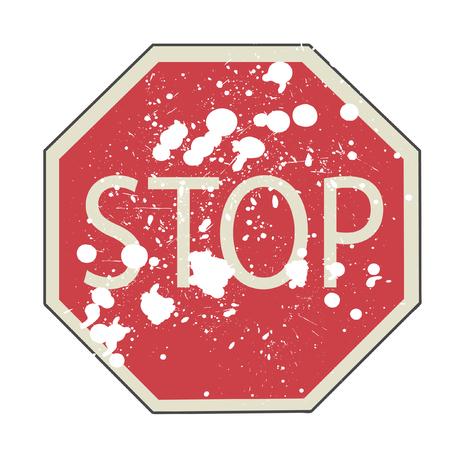 Vector illustration of Stop sign  Stock Illustratie