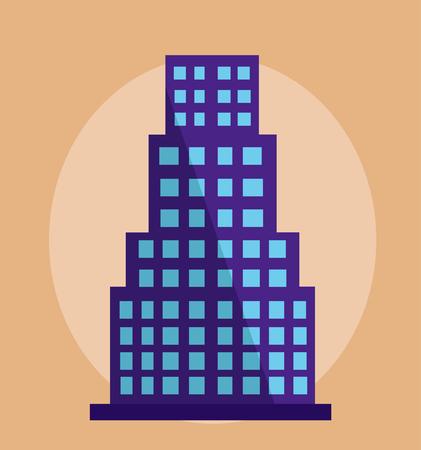 modern building vector illustration