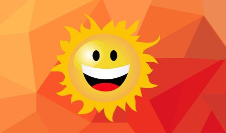 Vector illustration of cartoon sun