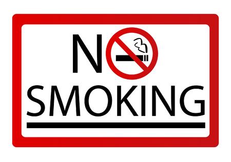 No smoking sign vector Stock Illustratie