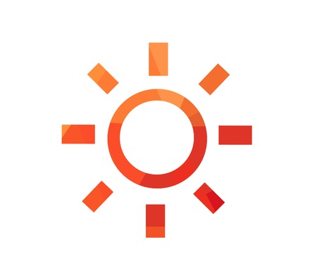 Vector illustration of sunrise sun Stockfoto - 122498094
