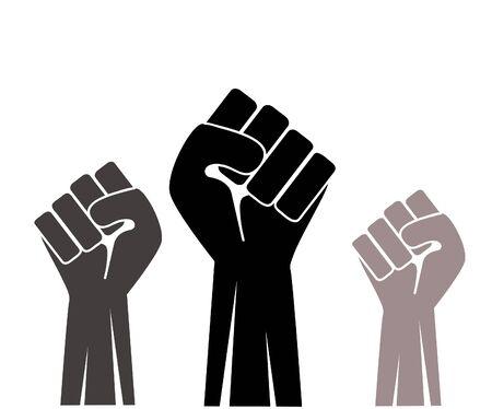 Fist up icon vector illustration Ilustração