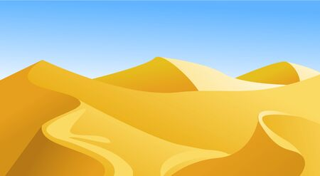 landscape with desert vector illustration Фото со стока - 129216190