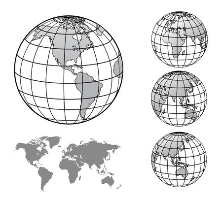 world globe with world map
