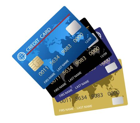vector realistic credit card set 写真素材 - 131973955