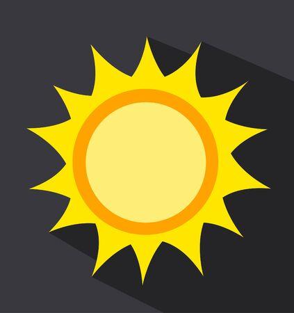 Illustrazione vettoriale del sole dell'alba Vettoriali