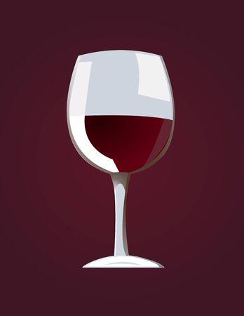 red wine vector illustration Illustration