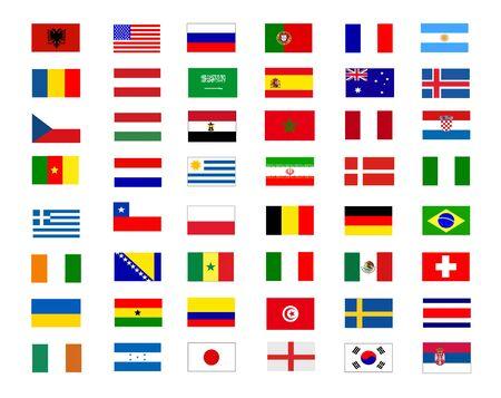 colored flags illustration design