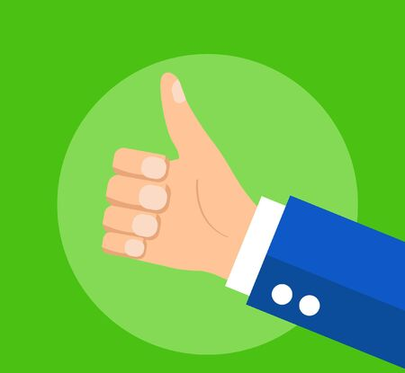 businessman holding hes thumb up