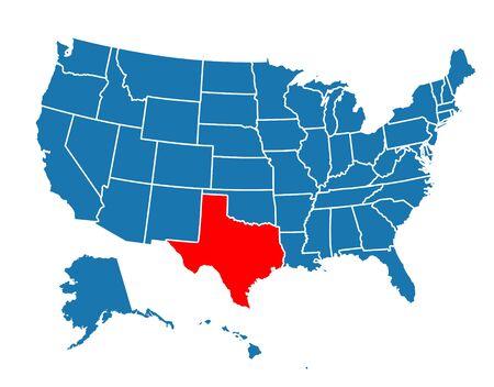 Texture Texas State Icon on white Vetores