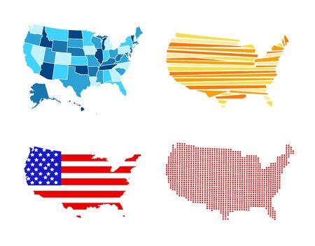 USA map vector illustration 일러스트