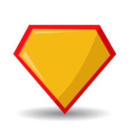 Superhero logo vector illustration