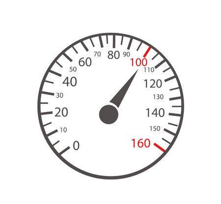 Car speedometers on white background