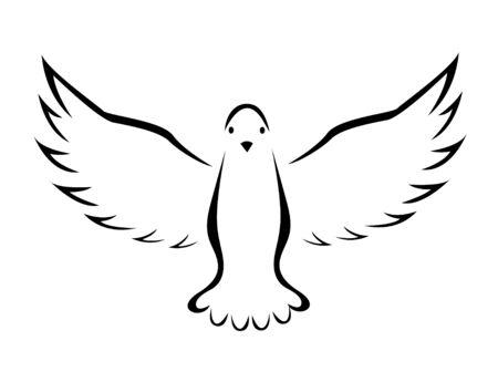 Vector illustration of flying dove