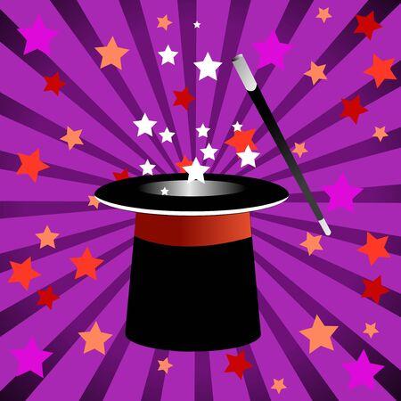 Magic hat vector illustration 일러스트