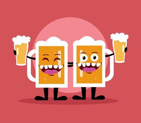 Bottle of beer cartoon design