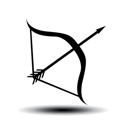 Bow and arrow vector illustration Ilustración de vector